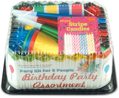Birthday Party Supplies: Birthday Party Asst for 8